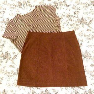 Adorable Vintage Camel A-Line Skirt